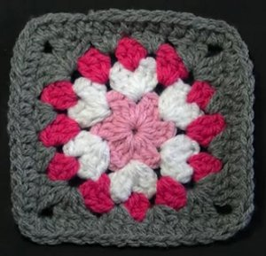 Gray-and-Pink-Flower-Granny-Square