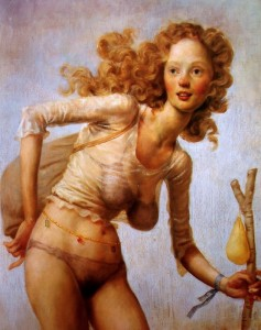 The Hobo, by John Currin