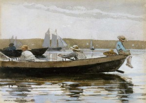Dory watercolor by Winslow Homer