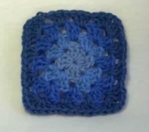 granny square blue